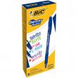 Scatola 12 penne gel cancellabili gelocity illusion 0.7mm blu bic - Z12328