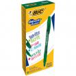 Scatola 12 penne gel cancellabili gelocity illusion 0.7mm verde bic - Z12331