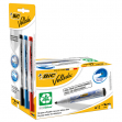 Promo box 12pz nero whiteboard velleda® 1701 recycled bic®+3 ink pocket (n/b/r) - Z12391