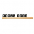 Kit mensola portamessaggi teak + 169 tessere letter board securit - Z12427