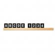 Kit mensola portamessaggi nero + 169 tessere letter board securit - Z12428
