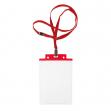 10 portanome pass 6s-p 10x15cm (a6) rosso con cordoncino rosso - Z12435