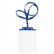 10 portanome pass 6s-p 10x15cm (a6) blu con cordoncino blu - Z12436