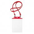 10 portanome pass 7st-m 15x21cm (A5) rosso con cordoncino rosso - Z12438