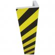Paracolpi angolare in gomma nbr l30 x h73cm giallo/nero - Z12693