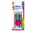 BLISTER GLITTER 3 FLACONI GRANA FINE 12ML COLORI ASSORTITI OLOGRAFICI CWR - Z13195