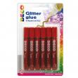 BLISTER COLLA GLITTER 6 PENNE 10,5ML ROSSO CWR - Z13206