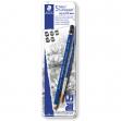 Astuccio metallo 5 matite+pennello Mars® Lumograph® acquerell. 3 grad.Staedtler - Z13371