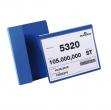 50 BUSTE IDENTIFICAZIONE CON ALETTA 210X148MM (A5-ORIZ) 1722 DURABLE - Z13883