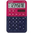 Calcolatrice tascabile EL 760R, 8 cifre, 2 colori design, rosso - blu - Z14629