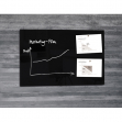 Lavagna magnetica in vetro 65x100cm nero artverum® sigel - Z14969