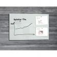 Lavagna magnetica in vetro 65x100cm bianco artverum® sigel - Z14970