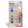 Colore acrilico fine 14 vasetti da 4,5ml colori assortiti Primo - Z15265