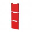 Set 3 ante c/serratura Rosso per casellari Maxi Rainbow - Z15389 - rosso